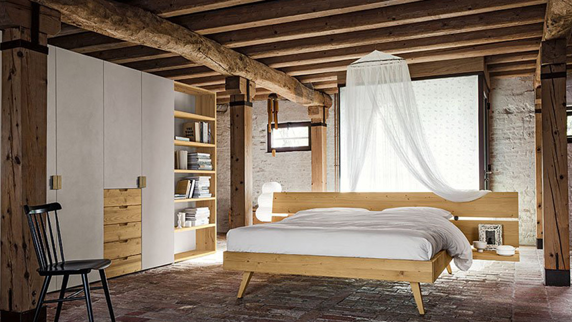 Camera Matrimoniale In Legno.Camera Matrimoniale Maestrale M07 Ottagono Design Di Roberto